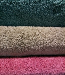 a colorful stack of carpet